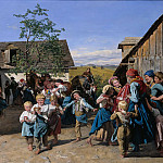 Ferdinand von Rayski - Return from the Fair