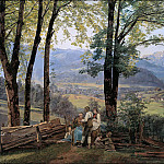 Carl Blechen - View at Ischl from Sophienplatz