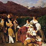 Ferdinand Georg Waldmüller - Dr. Josef Eltz and his Family in Bath Ischl. (1835)