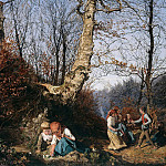 Adolph von Menzel - Early Spring in the Vienna Woods