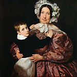 Friedrich Simmler - Mrs. Lindner with her Son