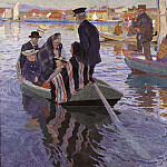 Unknown painters - Church-Goers in a Boat