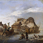 Unknown painters - A Nobleman's Sleigh on the Ice