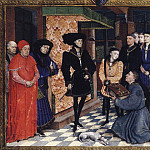 Rogier Van Der Weyden - Weyden_Miniature_from_the_first_page_of_the_Chroniques_de_Hainaut