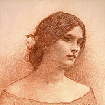 John William Waterhouse - Study for the Lady Clare