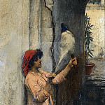 John William Waterhouse - A NEAPOLITAN FLAX SPINNER