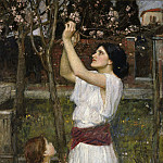 John William Waterhouse - Gathering almond blossoms