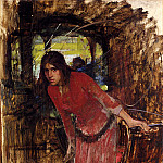 John William Waterhouse - The Lady of Shalott (study)
