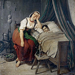 Friedrich Simmler - Caring mother