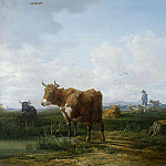 August Ferdinand Hopfgarten - Cows on pasture