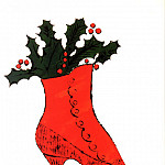 Andy Warhol - Warhol - Untitled (red Boot Wit Holly)