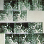 Andy Warhol - Warhol White car crash 19 times, 1963, Private