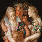 Joachim Wtewael - Without Ceres and Bacchus, Venus Grows Cold