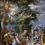 Joachim Wtewael - The Holy Family with Saints and Angels