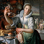 Joachim Wtewael - The Kitchen Maid