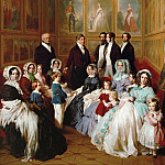 Queen Victoria and Prince Consort Albert as guests of King Louis Philippe of France, in Chateau d'Eu, 1845, Franz Xavier Winterhalter
