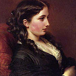 Franz Xavier Winterhalter - Girl in Profile