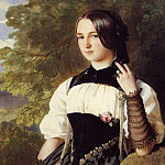 Franz Xavier Winterhalter - A Swiss Girl from Interlaken