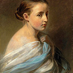 Franz Xavier Winterhalter - Portrait of a Girl
