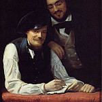Self-Portrait of the Artist with his Brother, Hermann, Franz Xavier Winterhalter