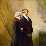 The Duke of Wellington and Sir Robert Peel, two prime ministers of Queen Victoria, Franz Xavier Winterhalter
