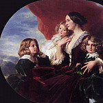 Franz Xavier Winterhalter - Elzbieta Branicka, Countess Krasinka and her Children