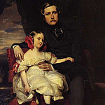 Napoleon-Alexandre-Louis-Joseph Berthier, Prince de Wagram and his Daughter, Franz Xavier Winterhalter