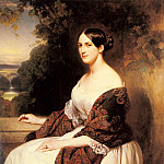 Franz Xavier Winterhalter - Portrait Of Madame Ackerman