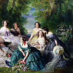 Franz Xavier Winterhalter - Empress Eugenie Surrounded by her Ladies in Waiting
