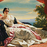 Franz Xavier Winterhalter - Portrait of Leonilla, Princess