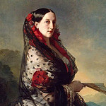 Franz Xavier Winterhalter - Portrait of Grand Duchess Maria Nikolaevna