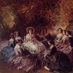Franz Xavier Winterhalter - The Empress Eugenie Surrounded by her Ladies in Waiting