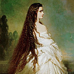 Franz Xavier Winterhalter - Elizabeth, Empress of Austria and Queen of Hungary