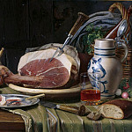 Johann August Nahl the Younger - Still life with Ham