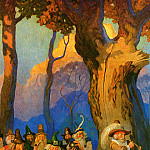 Newell Convers Wyeth - Rip Van Winkle_0005_Wee Folk Playing Nine Pins_N.C.Wyeth_sqs