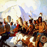 Newell Convers Wyeth - lrs-WyethNC-An Indian War Party