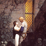 Newell Convers Wyeth - lrs-WyethNC-Tristram&Isolde in the Garden-15