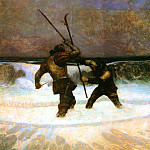 Newell Convers Wyeth - N.C.Wyeth_Two Knights Dueling, 1917_sqs