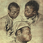 Jean-Antoine Watteau - Three_Studies_of_a_Boy_CGF