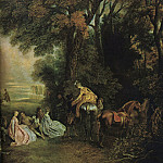 Jean-Antoine Watteau - A_Halt_During_the_Chase_WGA