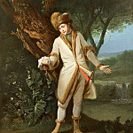 Portrait of the actor William Powell (1735-69) as Posthumous in Cymbeline (Act V, R K Post