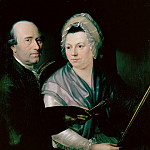 Anna Dorothea Therbusch - Johann Friedrich Weitsch and his first wife Anna Magdalena