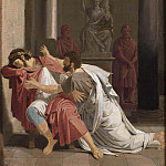 Josef Wilhelm Wallander - Burrhus, Nero's Tutor, Prostrating Himself before his Sovereign Lord