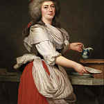 Unknown painters - Madame A. Aughié, Friend of Queen Marie Antoinette, as a Dairymaid in the Royal Dairy at Trianon