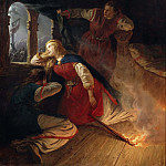 Mårten Eskil Winge - Signe Seeks Death in the Flames of Her Bower