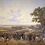 Unknown painters - King Carl XIV Johan of Sweden Visiting the Canal Locks at Berg in 1819