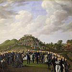 Unknown painters - King Carl XIV Johan Visiting the Mounds at Old Uppsala in 1834