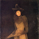 James Abbott Mcneill Whistler - Whistler_Harmony_in_Brown_The_Felt_Hat