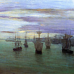 James Abbott Mcneill Whistler - Whistler Crepuscule in Flesh Colour and Green Valparaiso