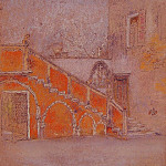 James Abbott Mcneill Whistler - The_Staircase_Note_in_Red